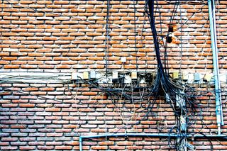Complex wires on brick