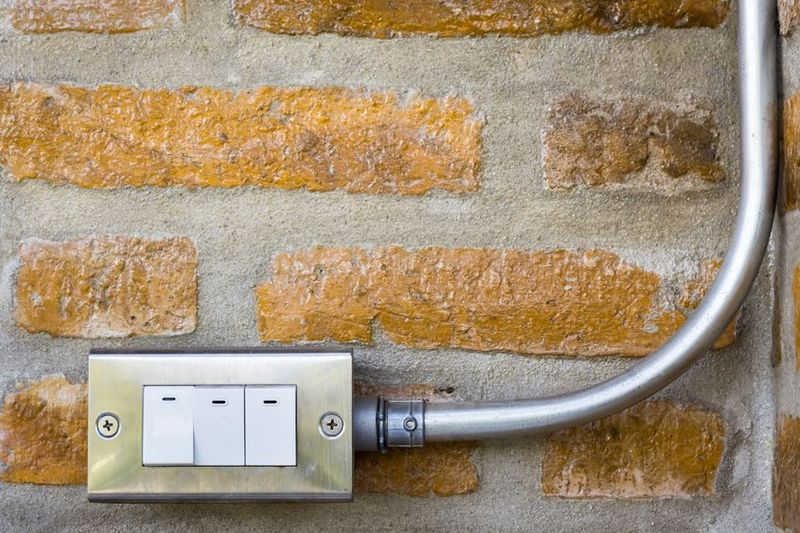 Simple electrical on brick wall